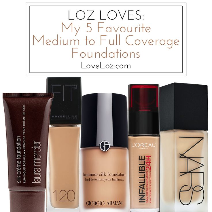 The Best Full to Medium Coverage Foundations // LoveLoz.com