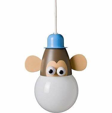 Childrens Novelty Monkey Ceiling Light Pendant - 18w Low Energy