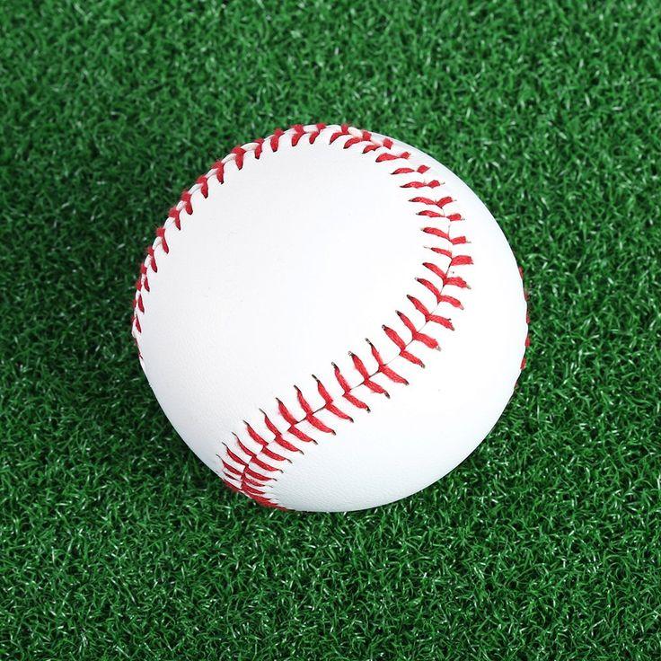 熱い販売1ピース/セット手作り野球ボールプロフェッショナル2.75インチ屋外スポーツ練習トレーニング野球ボール白ソフトボール