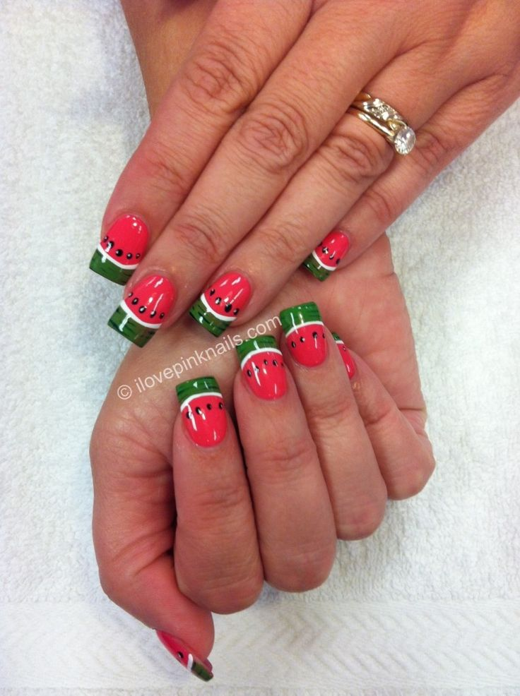 watermelon deisgn pedicure | ... i like this but for my toes