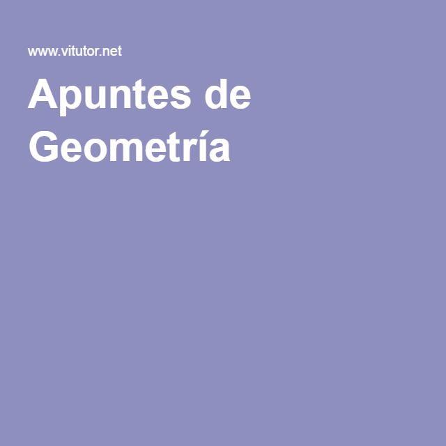 Apuntes de Geometría