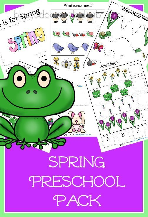 FREE spring preschool pack with over 20 pages of FUN! Hurry!