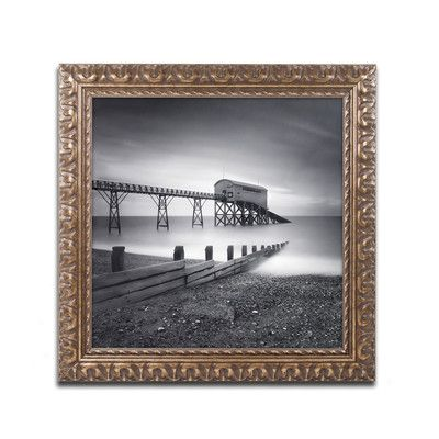 "Trademark Art ""Selsey Lifeboat Station"" by Nina Papiorek Framed Photographic Print Size: 1"