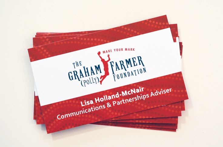 Business card design for the Graham Polly Farmer Foundation, by Designz by Jamz #logo #businesscard #design #graphicdesign #branding #creative #corporatebranding