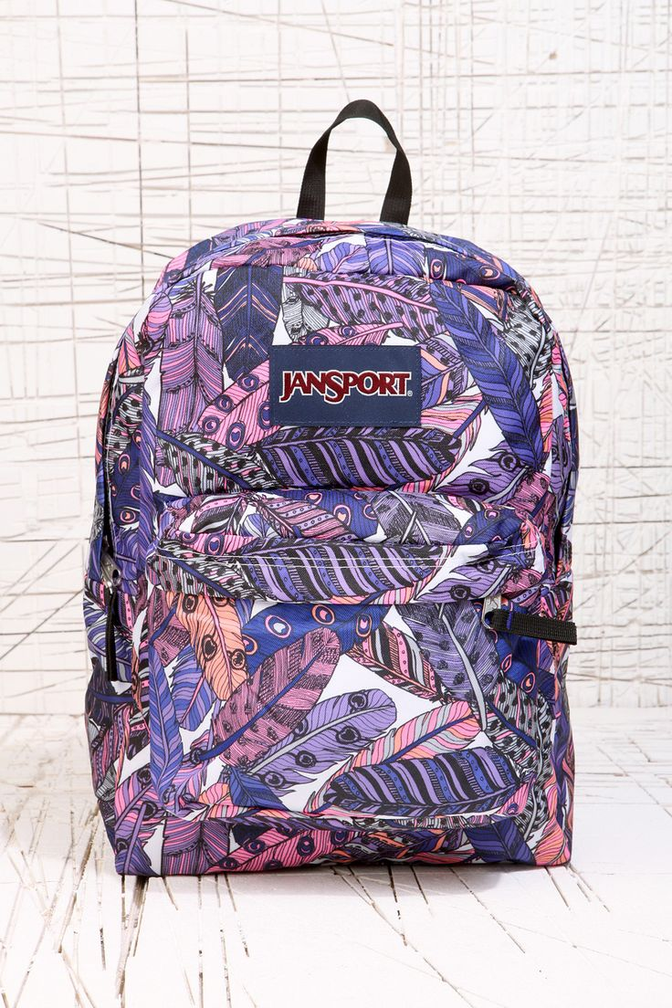 Feather Print Jansport Backpack I Want I Want