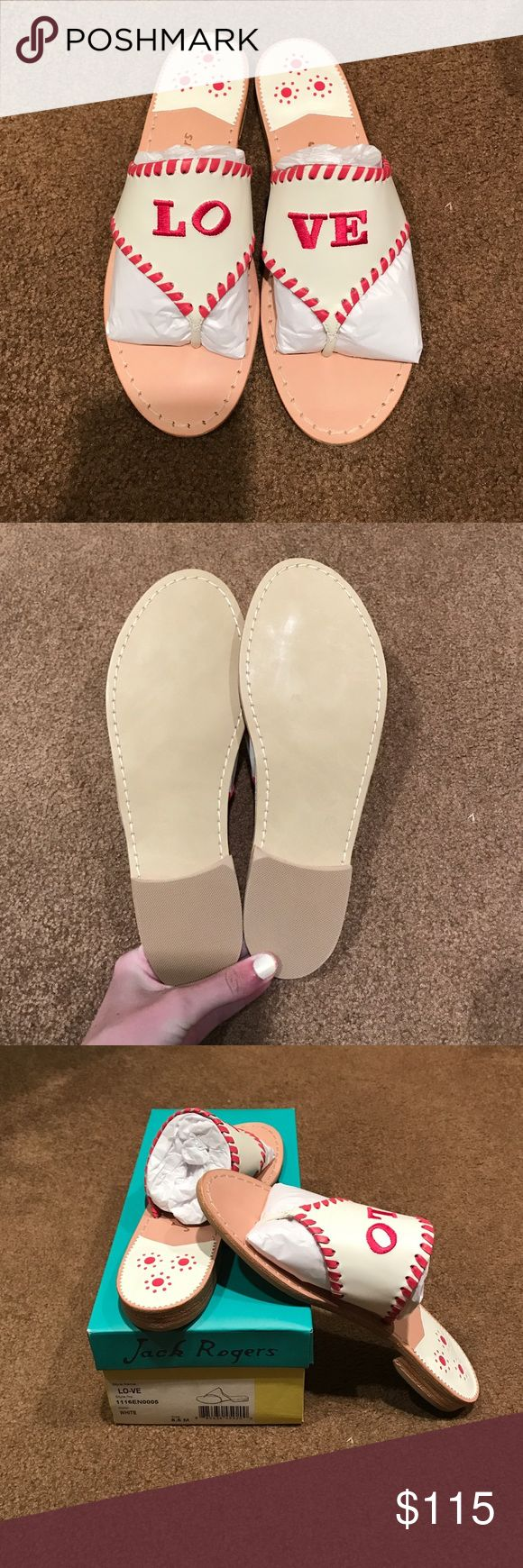 LO-VE Jack Rogers Sandals NEW IN BOX!! Never worn, perfect for Valentine's Day 💞💞 Jack Rogers Shoes Sandals