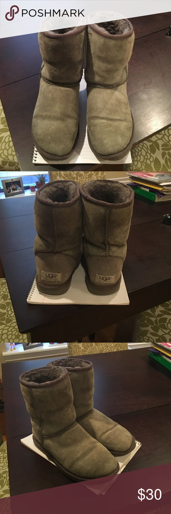Ugg Classic Short Grey Boots Ugg Women's Classic Grey Boots - Size 6 - well worn but still warm! UGG Shoes Winter & Rain Boots