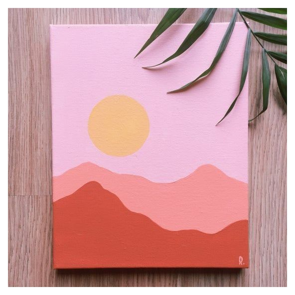 Easy Things To Paint On Canvases Easy Art Ideas Wondering What To Do When Bored Try Some Art Th Hippie Painting Cute Paintings Simple Canvas Paintings