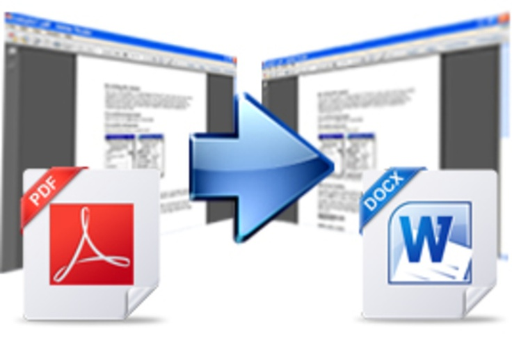 Convert your pdf ebook to a full word doc file Words