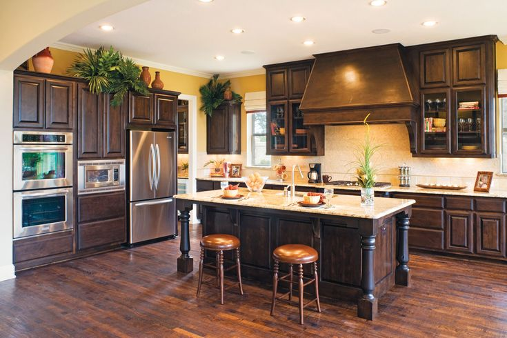 Acacia Floors With Alder Cabinets