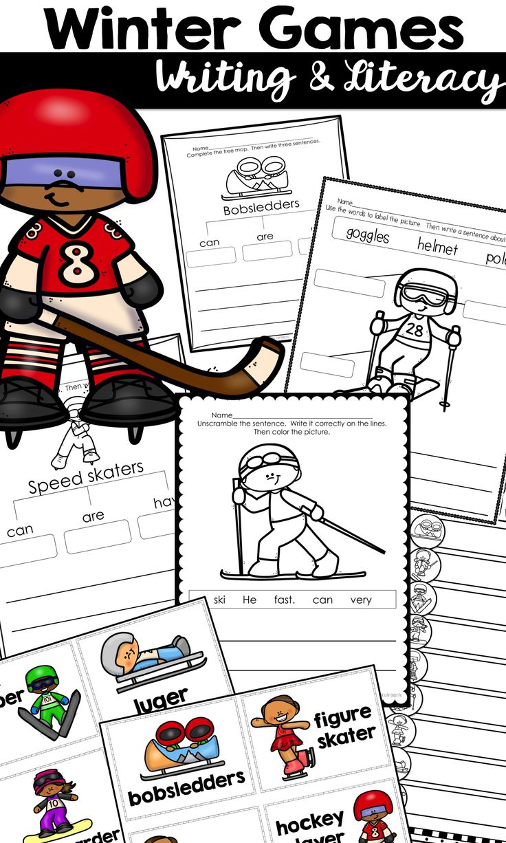 Studying the Winter Olympics 2018? This writing and literacy set is full of fun practice for your K-1 classroom. Includes tree maps, labeling, scrambled sentences, and more! $