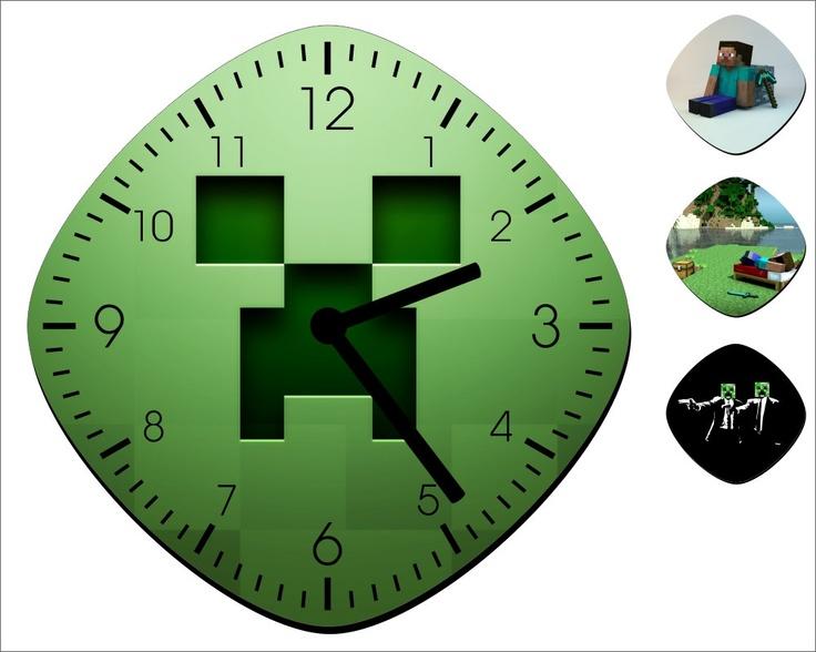 Minecraft Wall Clock