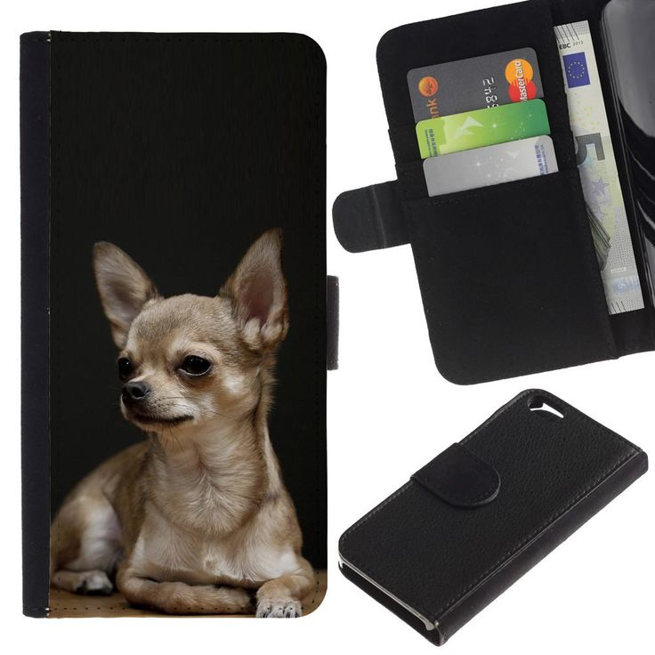 A-type (Chihuahua Tiny Pet Dog Canine Purse) Colorful Printing Holster Leather Wallet Case Pouch Skin Case Cover With Slots&pocket For Apple (4.7 inches!!!) iPhone 6 / 6S. Unique design allows easy access to all buttons. Fashionable & Perfectly Designed f