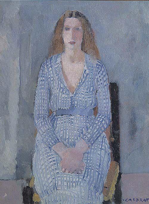 """Ragazza in azzurro"", 1933, by Felice Casorati (Italian, 1883-1963)"