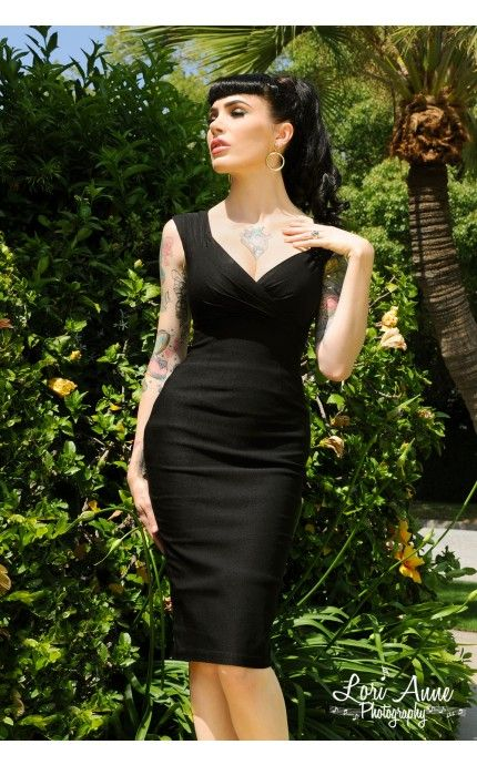 One of my many Dream Dresses: Erin Wiggle Dress in Black Stretch Bengaline from Pinup Couture | PinupGirlClothing