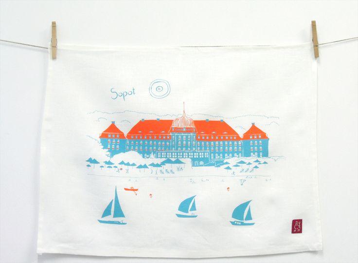 Ściereczka kuchenna Grand Hotel, Sopot - GlinianaKura - Kuchnia