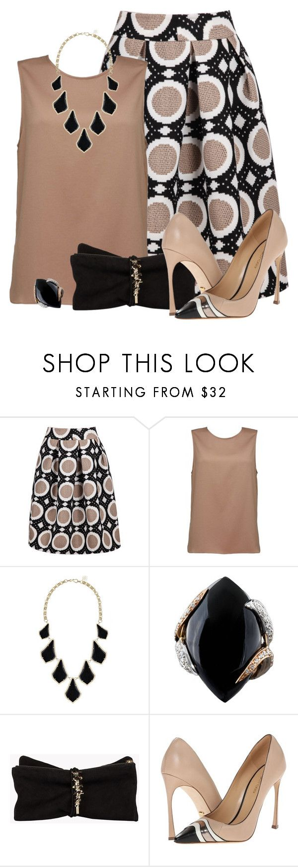 """Eva"" by rotwein ❤ liked on Polyvore featuring Kendra Scott, Luca Carati, Dsquared2 and Sergio Rossi"