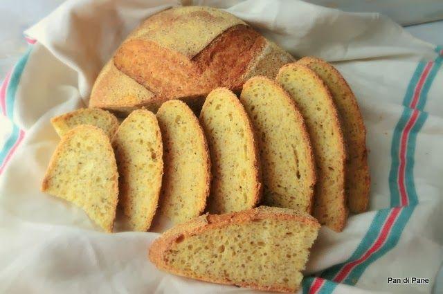 Pan di Pane: Pane con Mais e Grano Saraceno, con Pasta Madre.