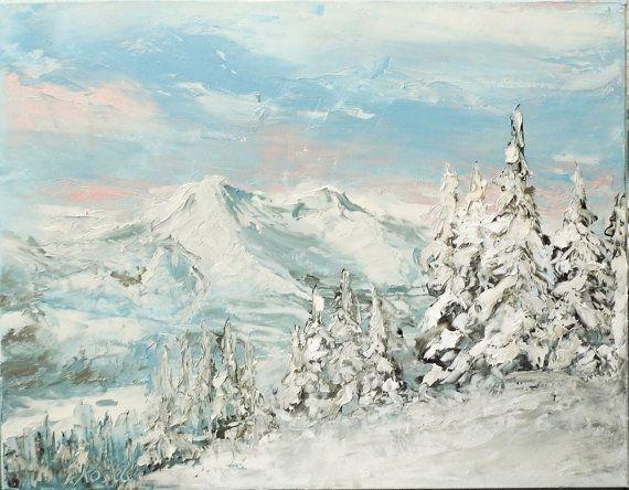 mountains 50x40 by SztuknijSie on Etsy