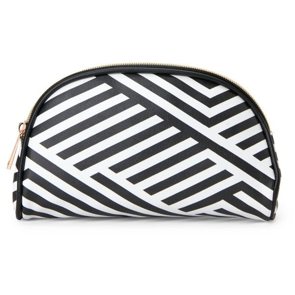 Under One Sky Printed Small Cosmetic Bag ($13) ❤ liked on Polyvore featuring beauty products, beauty accessories, bags & cases, white, wash bag, toiletry kits, travel toiletry case, makeup purse and cosmetic bags