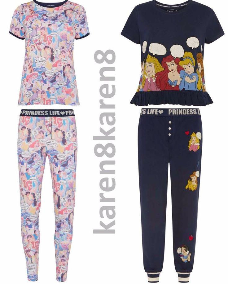 Ladies PRINCESS LIFE Pyjamas Primark DISNEY Womens Pajamas T Shirt Leggings