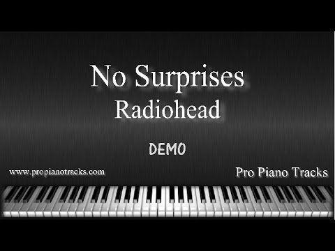 No Surprises Radiohead Piano Accompaniment Karaoke/Backing Track and Sheet Music - YouTube