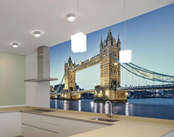 Fotomurales Puente de Londres. Ideas decoración academia de inglés #decoración #academia #inglés #ideas #vinilo #TeleAdhesivo