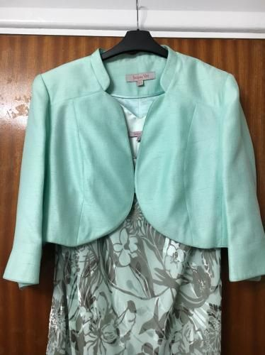4d304b93fe For Sale on Preloved - Mint and silver Jacques vert special occasion dress  and jacket size