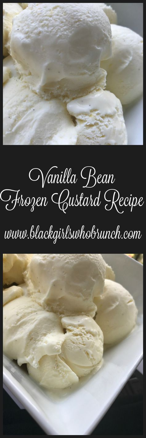 Doubled the recipe.  Used only heavy cream. Added 6 squares of baking chocolate. Omited the vanilla bean since I didnt have any. Subatituted powdered Stevia instead of sugar.   Vanilla Bean Frozen Custard Recipe Black Girls Who Brunch