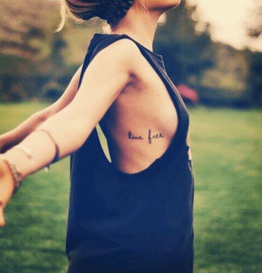 Best 25 live free tattoo ideas on pinterest tattoo free for Small side boob tattoos
