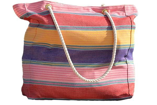 Fair trade, carousel colored beach tote bags from Guatemala. All handmade.