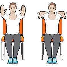 8 Exercise Moves You Can Do in Your Chair: some of these may be done with injured ankle