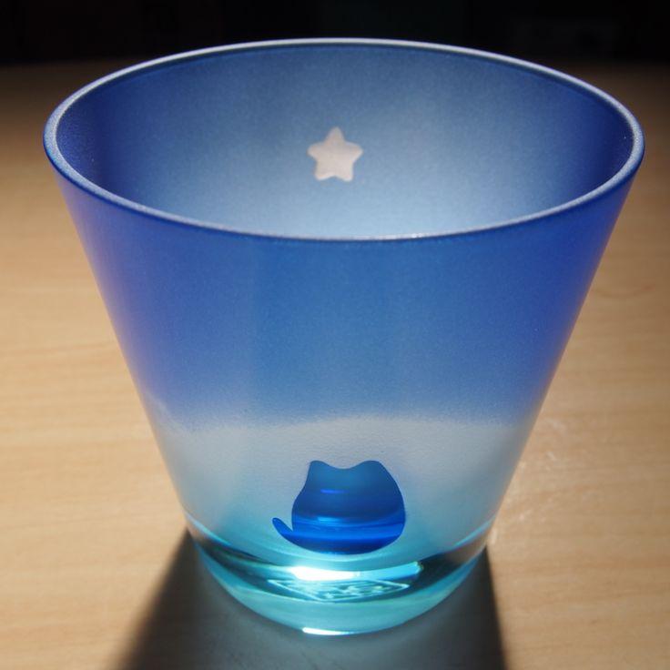 Cat & First Star Handmade using glass for Edo Kiriko $60