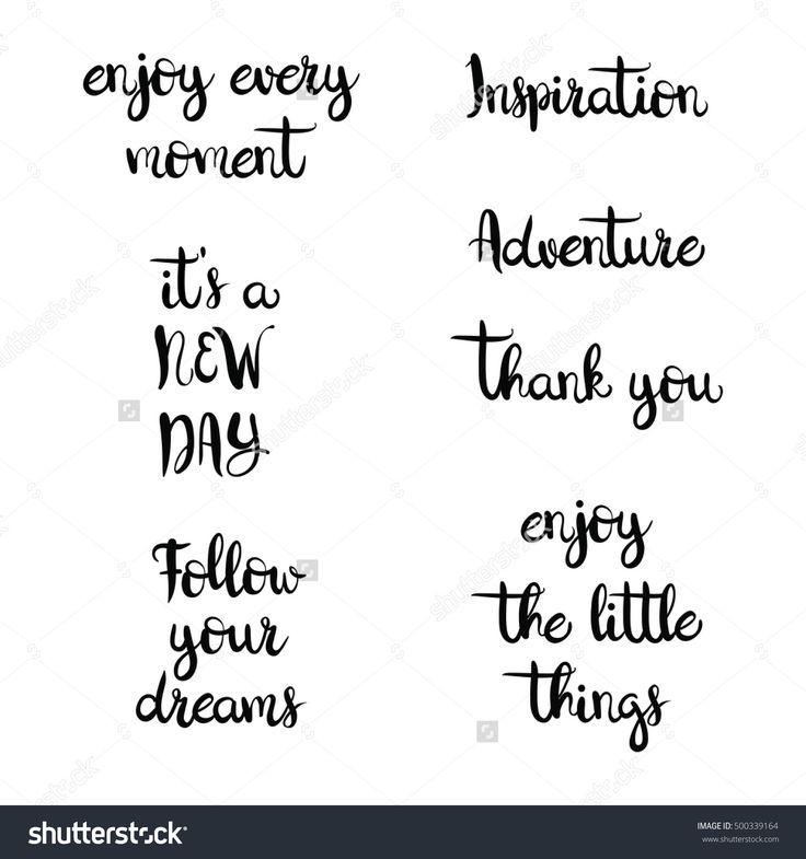 Set Of Inspirational Phrases On White Background. Vector, Eps 10 - 500339164 : Shutterstock