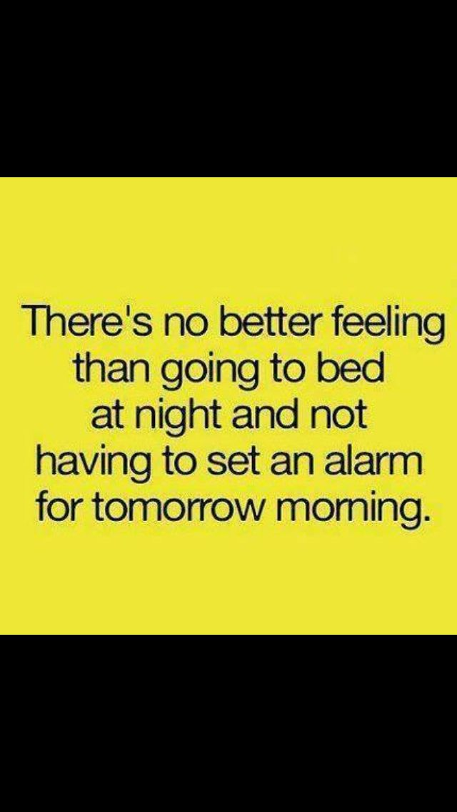 There's no worse feeling than going to bed at night