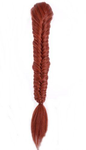 Henna Red Phat Fishtail Ponytail Hairpiece | Clip in Plaited Fishtail Ponytail | Claw Grip Fastening * Review more details @