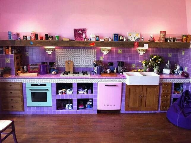 This Week The Guardian Collected Pictures From Readers With A Theme! This  Purple Kitchen Is Ah Mazing!