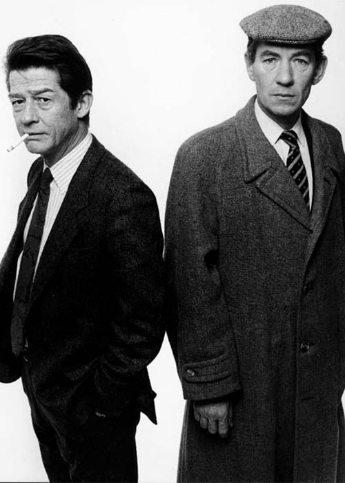 John Hurt and Ian McKellen. Love that the amazing John Hurt is about to reach a whole new level of adoration. What an incredible actor. Doctor Who is lucky to have you. Like Sir Ian, he will reach a whole new audience.