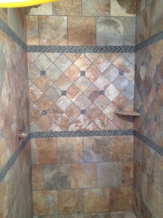 1866 best tile tiling ideas for home images on pinterest for Rustic tile bathroom ideas