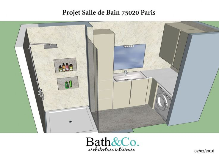 R alisation de la soci te bath co architecte d for Creation de salle de bain
