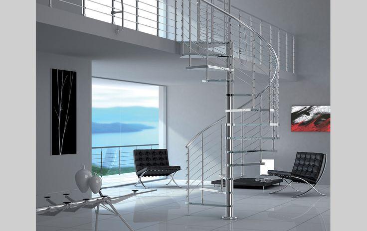 gradini a scomparsa verticali : Scale in vetro, parapetti in vetro, ringhiere in vetro, balaustre in ...