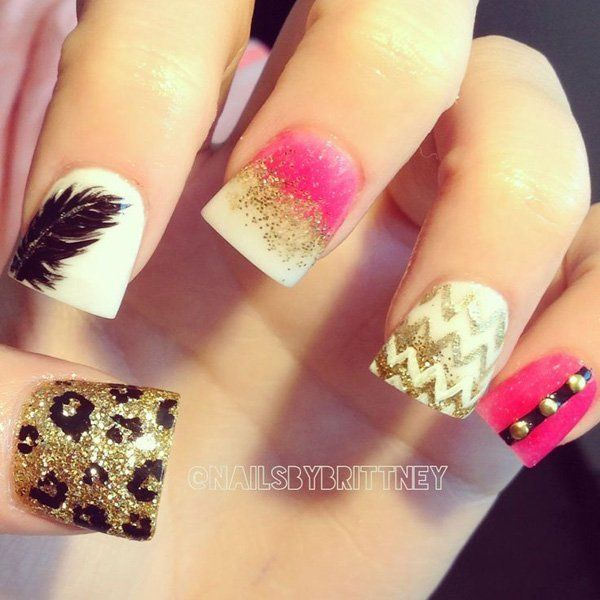 The 25 best feather nail designs ideas on pinterest feather feminine feather nail designs for 2016 prinsesfo Gallery