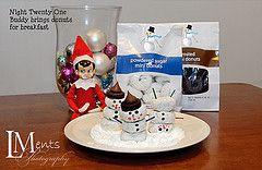 elf on the shelf   donut snowmen