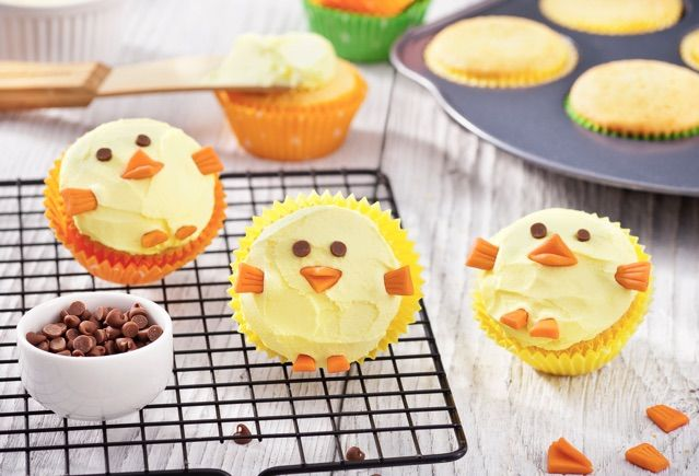 Paaskuiken-cupcakes