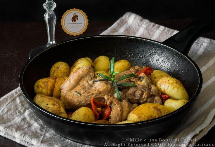 Agnello+con+patate+novelle+in+padella