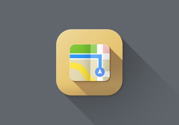 Long shadow love: iOS 7 icons redesign by Sanat Rath, via Behance