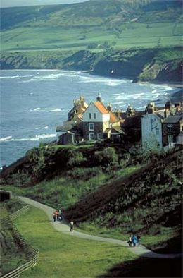 Robin Hood's Bay, North Yorkshire, England - I walked here from Whitby in August 1996