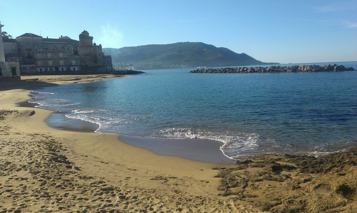 La spiaggia di marina piccola a Castellabate