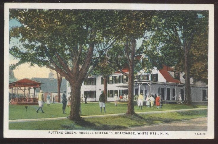 Postcard KEARSARGE New Hampshire/NH  Russell Cottages Golf Putting Greens 1920s