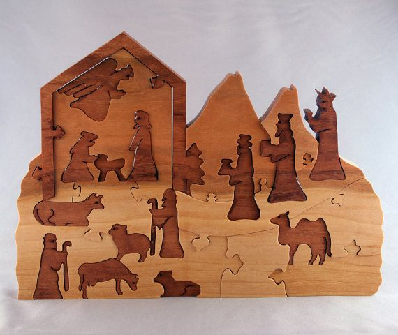 Nativity Advent Calendar wooden puzzle by woodencreations on Etsy, $80.00